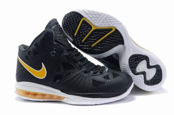 Air Foamposite Nike LeBron 8 PS Black White Varsity Yellow [Nike LeBron 8  PS - The black upper is predominately comprised of Nike\u0027s new Fuse  technology and ...