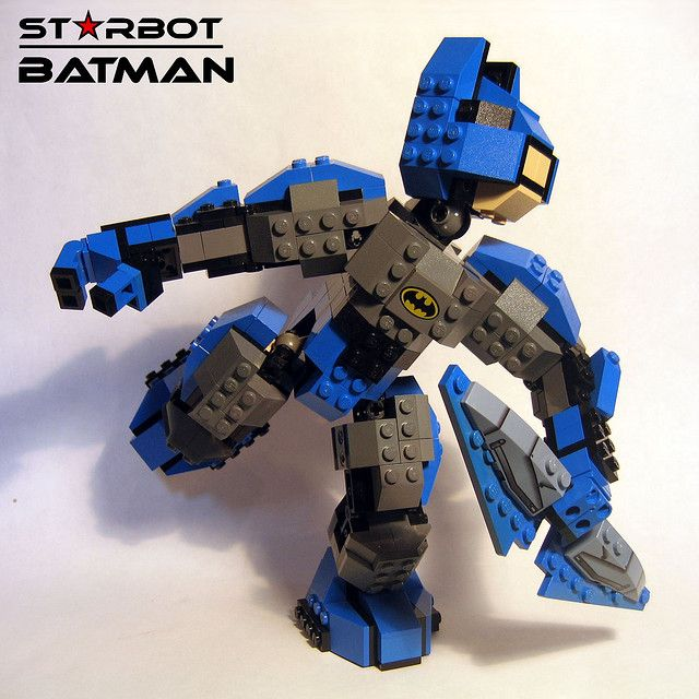 Lovely LEGO Starbot Batman By Glennnissen, Via Flickr