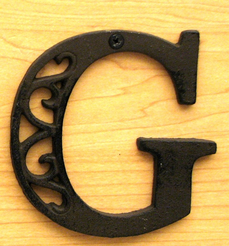 Cast Iron Letter G   Wall Plaques   Pinterest   Iron