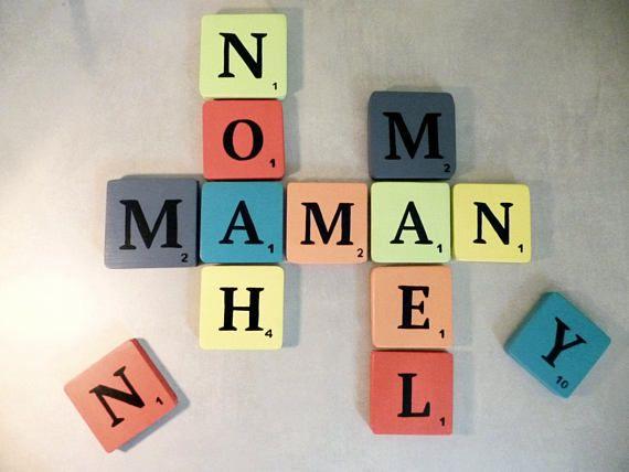 lettre scrabble g ante lettre en bois style r tro multicolore d coration murale mod le