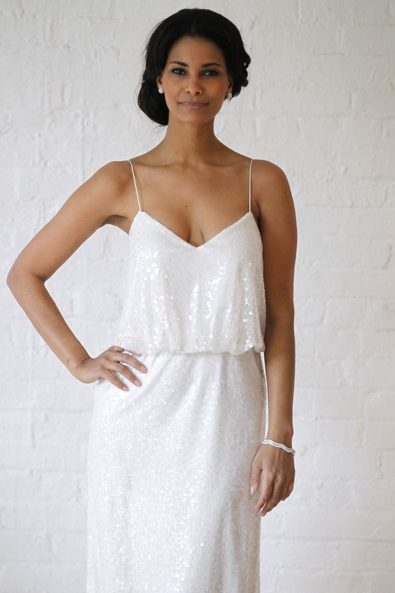 how taboo is it to wear a white sequin dress davids bridal dress as ...
