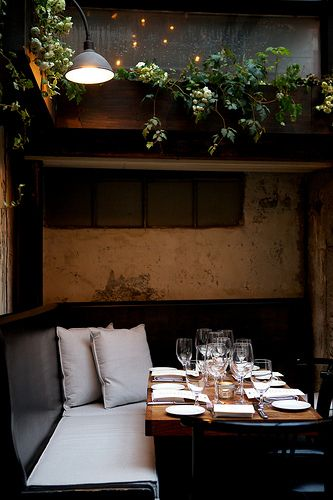 August Restaurant, NYC - Restaurant interior design inspiration byCOCOON.com #COCOON Dutch designer brand.