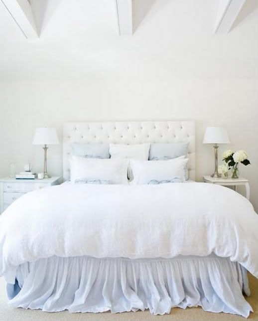 Too much white, but this bed is so cute with the light blue accents. And it looks SO COMFY.