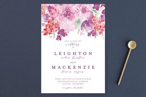 """""""Spring Garden"""" - Floral & Botanical, Elegant Wedding Invitations in Petal by Grace Kreinbrink."""