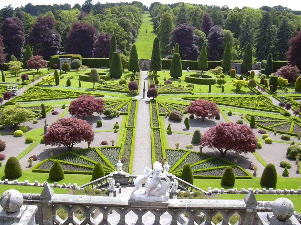 Drummond Castle Garden, Perthshire... | Castle garden ...
