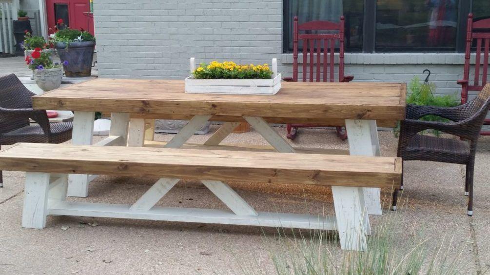 Outdoor Farm Table Farmhouse table with bench, Outdoor