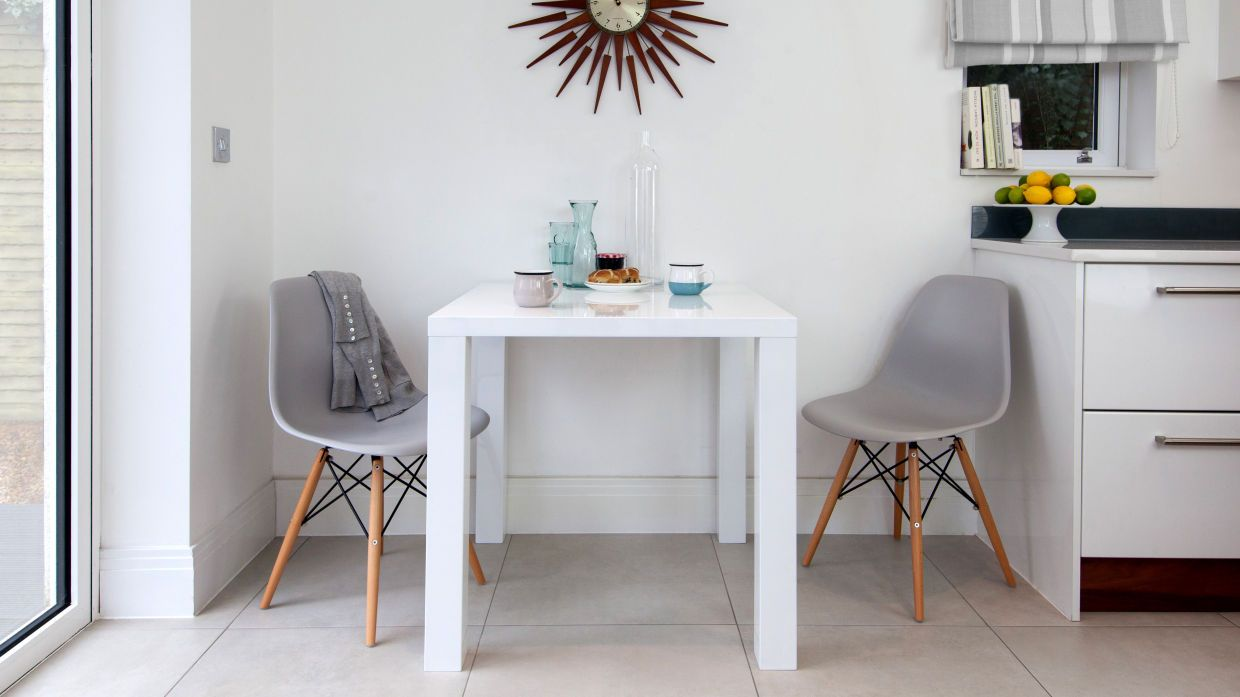 white table eames grey chairs - Google Search | Home Ideas ...