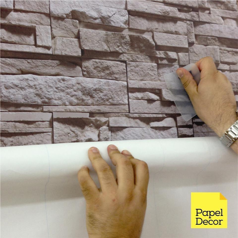 Papel De Parede Adesivo Pedra Canjiquinha 1 Casas Pedra  -> Papel De Parede Para Sala No Rj