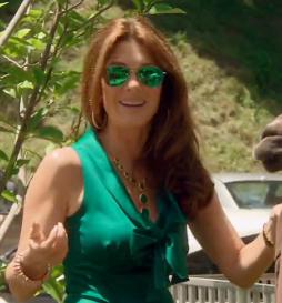 green aviator sunglasses  Lisa Vanderpumps Green Aviator Sunglasses - Details here: http ...