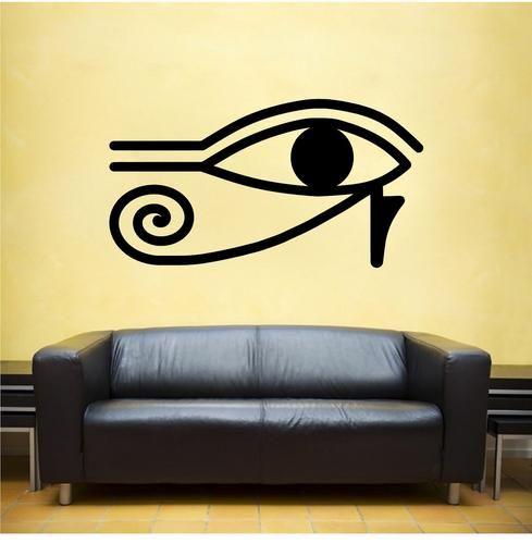 Eye of Ra vinyl Wall DECAL Egyptian interior design sticker home ...