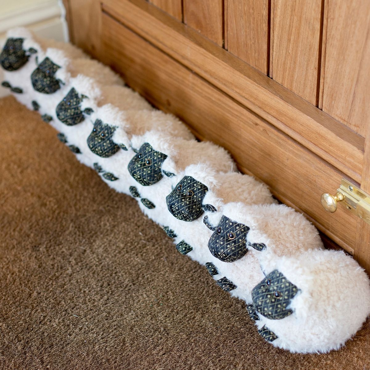 Woolly Sheep Draught Excluder Creative 2 Door Draft