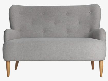 WILMOT NEUTRAL Wool Grey fabric 2 seat sofa - HabitatUK ...