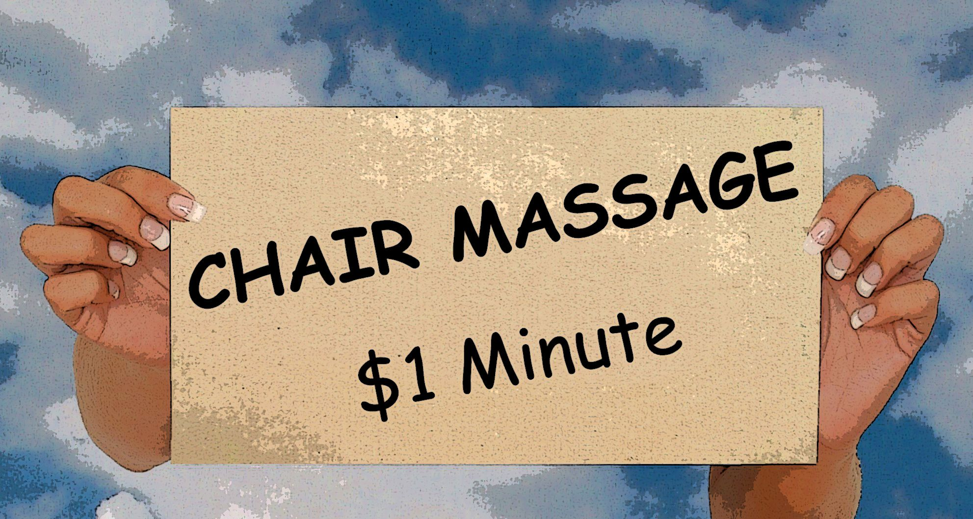 Chair Massage $1 Minute Massage Quotes and Signs