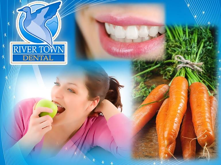 If you can't find your floss during the day, opt for Mother Nature's #toothbrush. Hard, crunchy foods, such as #carrots & #apples, can clean your teeth naturally. (608) 526-9300 #Dentist rivertowndentalonline.com