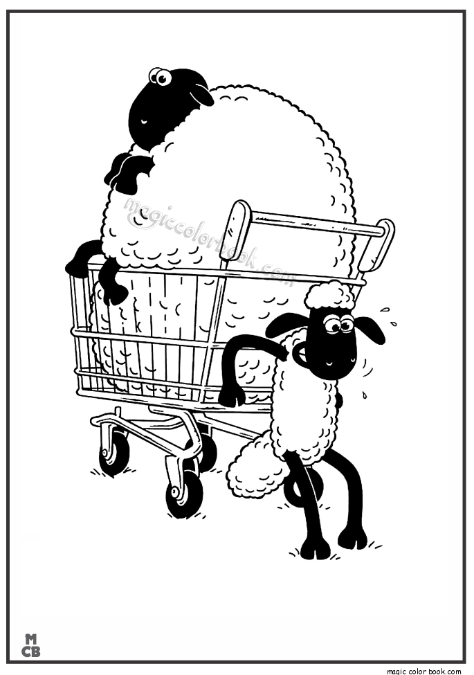 Pin von Magic Color Book auf Shaun and the sheep Coloring pages free ...