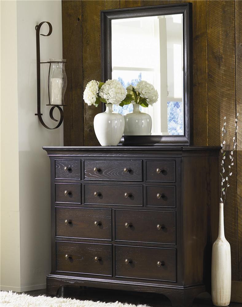 Ashby Park Vertical Beveled Dresser Mirror By American Drew