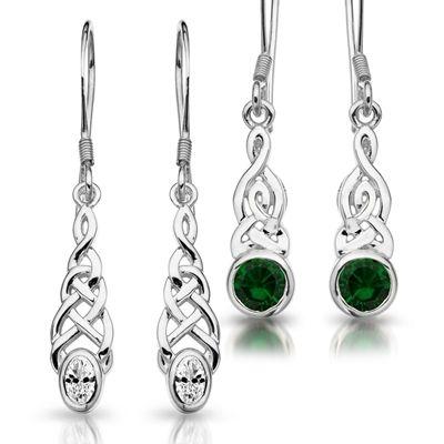 0000565 Silver Celtic Earrings 400 Jpeg