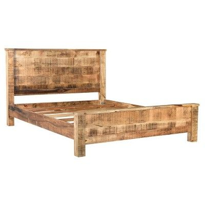 Agra Solid Wood Bed King Brown Timbergirl Homemade Beds