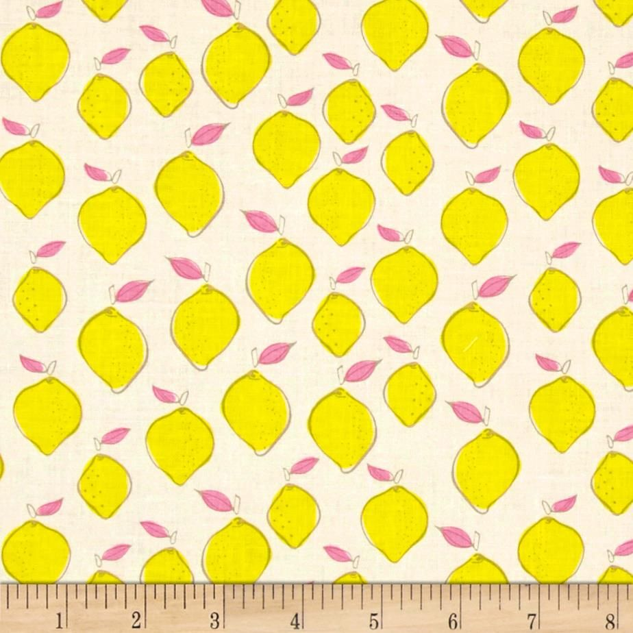 Camelot Pink Lemonade Citrus Splash Lemon White from @fabricdotcom ...