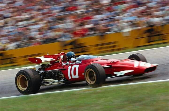 1970 German GP, Hockenheimring : Jacky Ickx, Ferrari 312B / F-12 #10, Scuderia Ferrari, 2nd (ph: © Schlegelmilch)