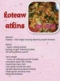 Image Result For Resepi Diet Atkin Fasa1 Atkins Diet Recipes Healthy Recipes Food