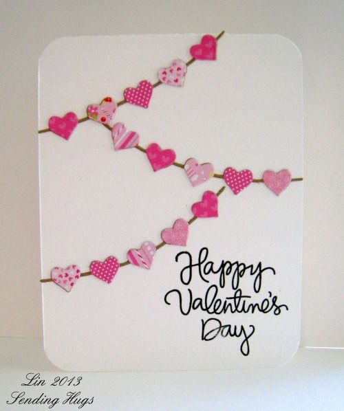 25 Easy Diy Valentine S Day Cards With Images Valentine Cards