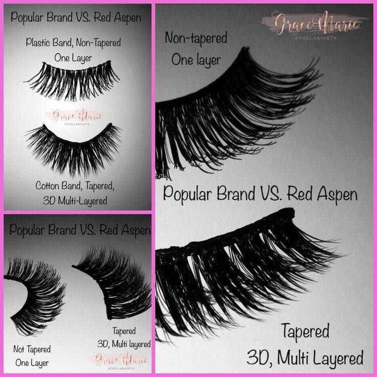 f183b88ea58 So why pay for Red Aspen Lashes vs drugstore!? This is why! You'll be able  to use these more than once and they'll compliment your natural beauty!