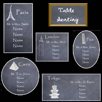Wedding Seating Chart Ideas | Chalkboards for Wedding | DIY Weddings and Events