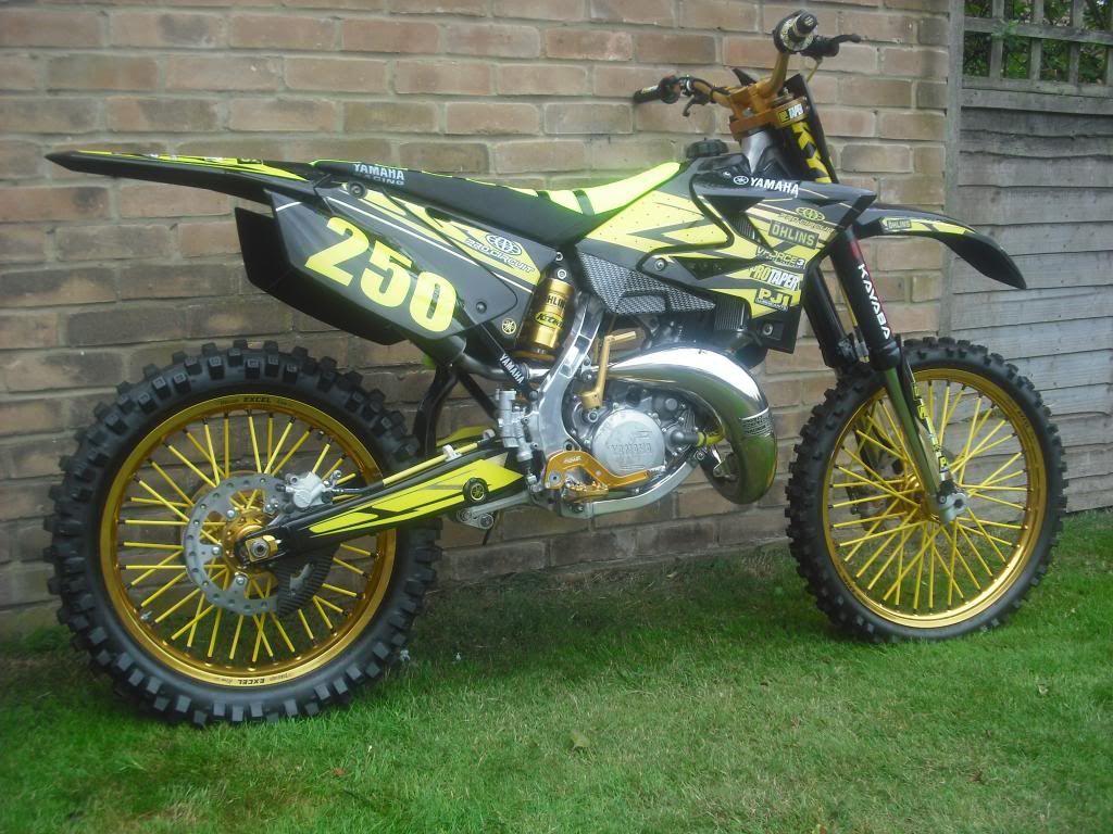 Ufo plastics yz 125 250 restyle kit smv ryder xlr8rr for Yamaha dirt bike plastics