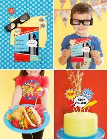 via Too Stinkin' Cute: Super Hero Party Idea