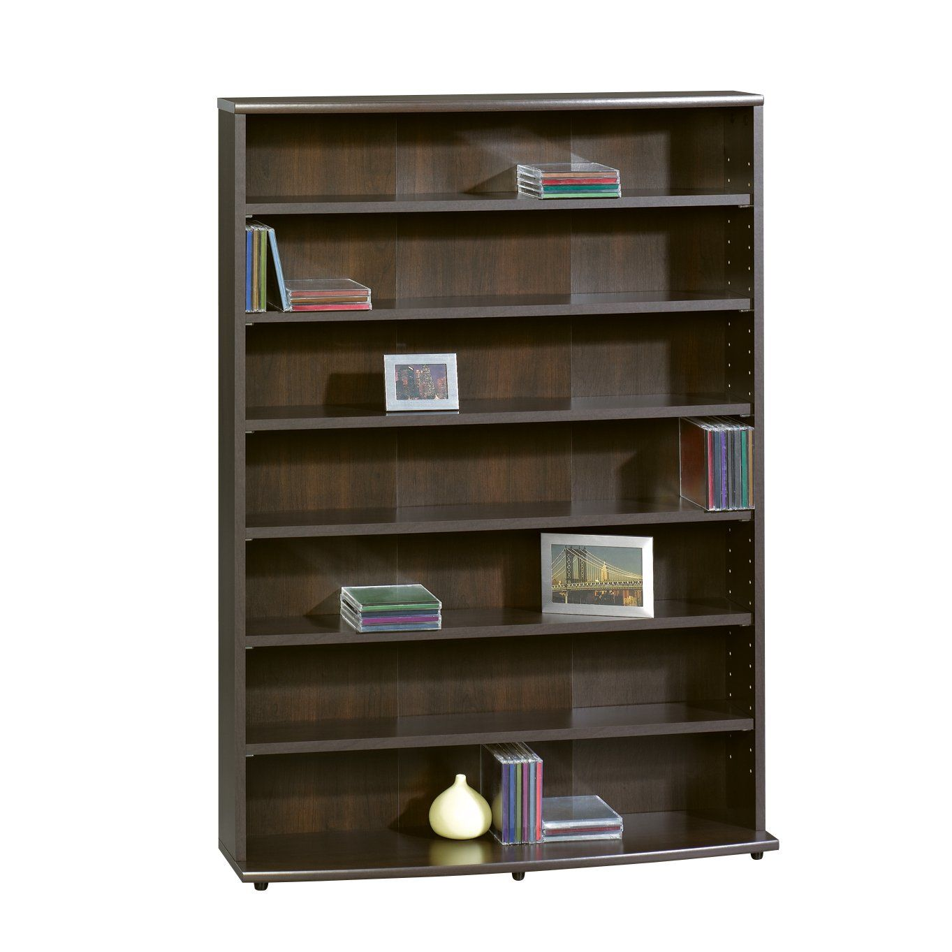Sauder Multimedia Storage Tower Cinnamon Cherry Is The Manufacturer O Sullivan A Sub Brand Of Six Adjule Shelves Holds 280 Dvd S Or