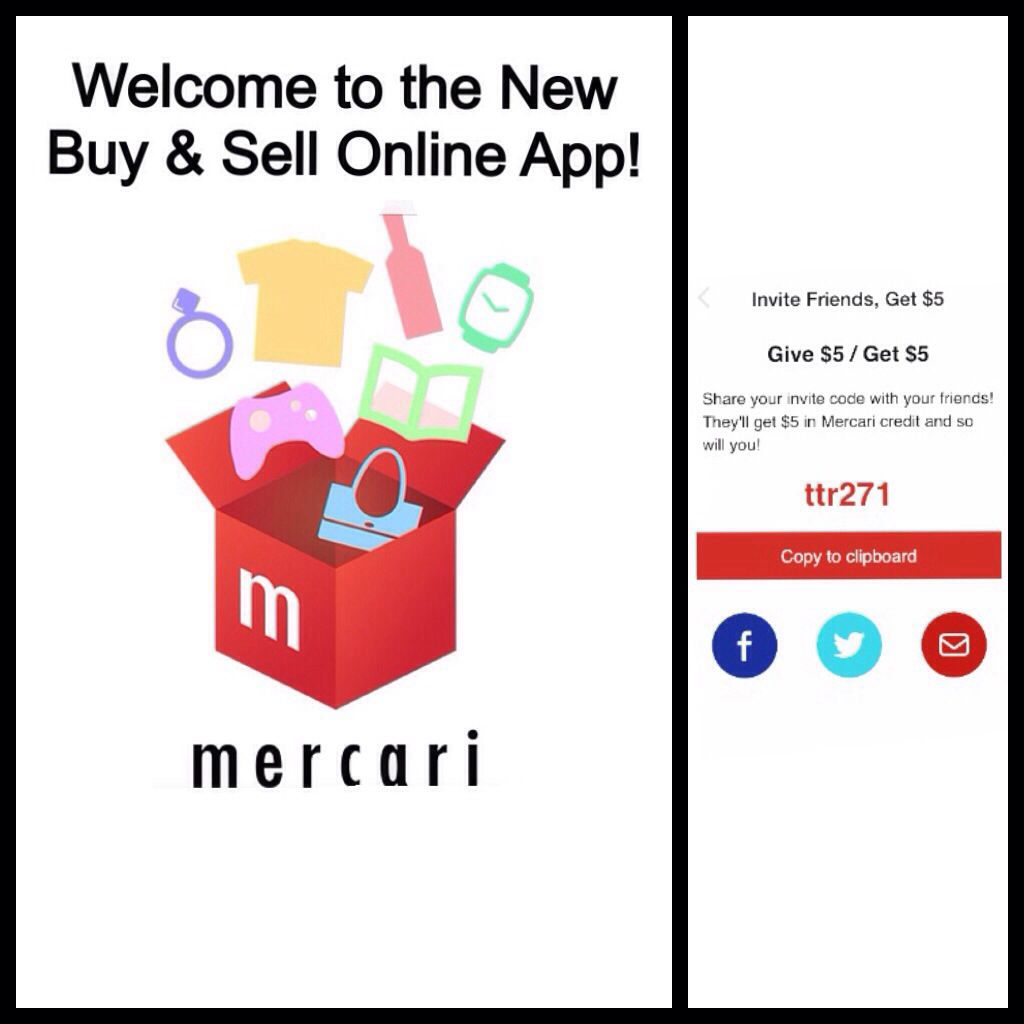 Welcome To The New Buy Sell Online App Mercari Invite Your
