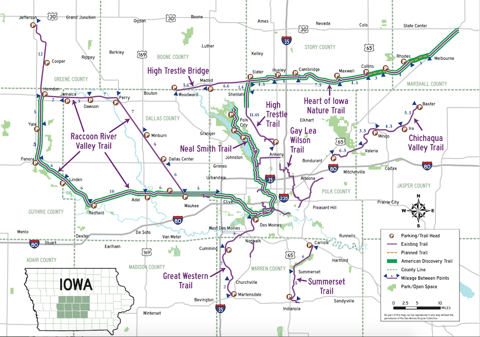 Derry Rail Trail Map on