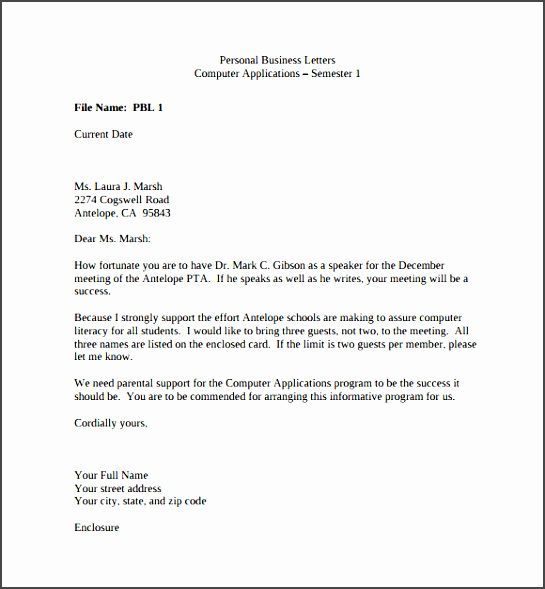 Sample Business Letter Ijgb Unique Sample Personal Business Letter