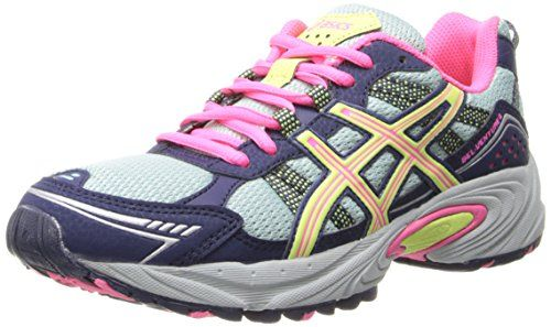 ASICS Women's GEL-Venture 4 Running Shoe,Ice Blue/Sharp Green/Navy