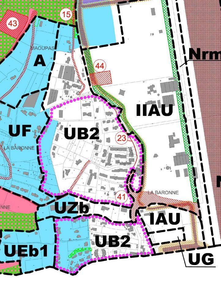 06/2013: Zone UB - sous-secteur UB2 de La Baronne - PLU La Gaude