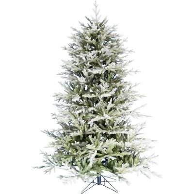Fraser Hill Farm 7 5 Ft Highland Frosted Green Christmas Tree Ffhl075 0fr The Home Depot Green Christmas Tree Pre Lit Christmas Tree Artificial Christmas Tree Stand
