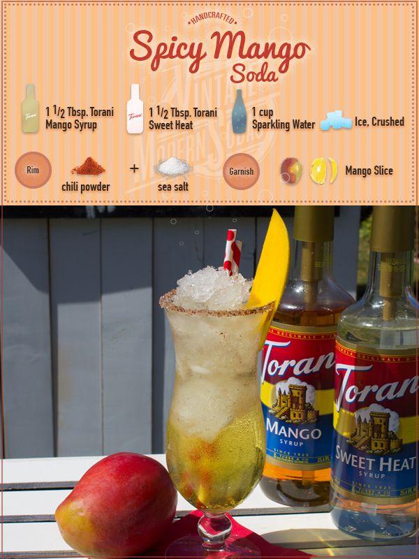 Spicy Mango Soda Soda Recipe Sweet Drinks Sugar Free Syrup Recipe