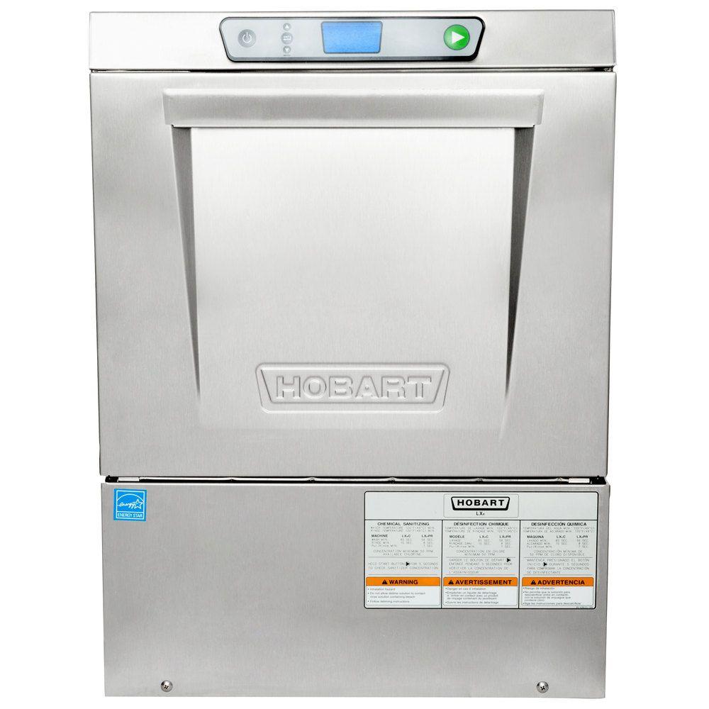 Hobart LXeC-3 Undercounter Dishwasher - Chemical Sanitizing, 120V ...