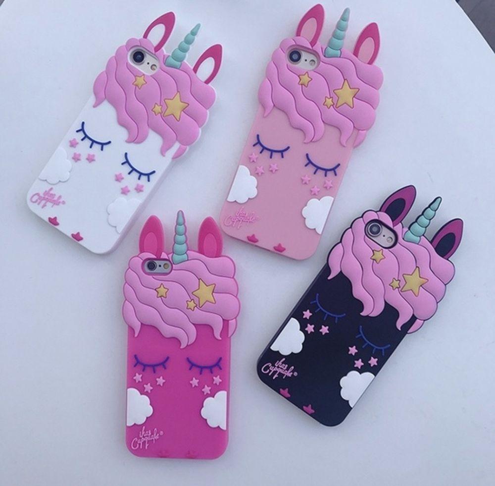 For Iphone 5/5S/5SE 3D Cute Cartoon Unicorn Rubber Silicone Case ...
