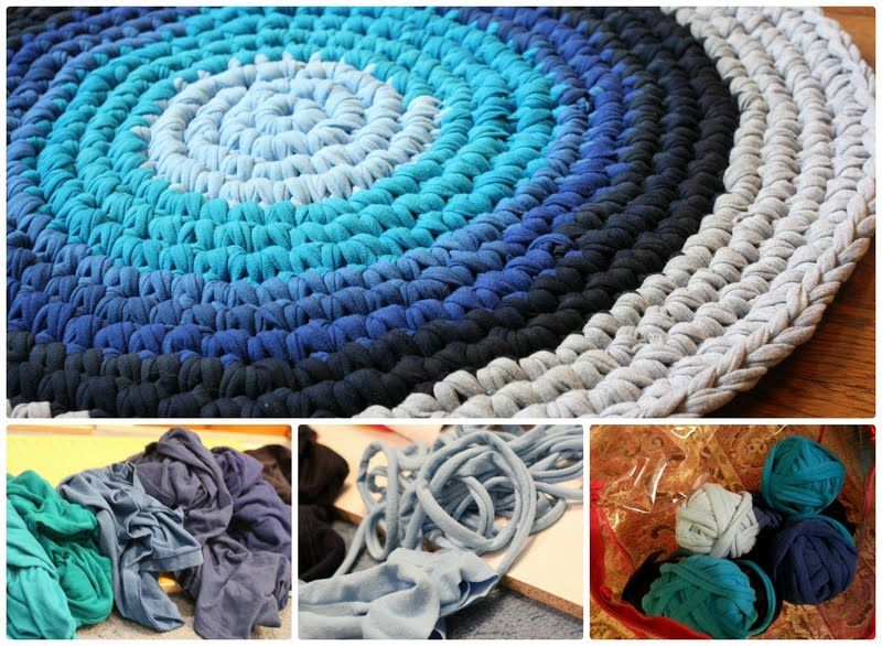 Crochet Tshirt Rug Pattern Youtube Video Easy Tutorial   Thrift ...