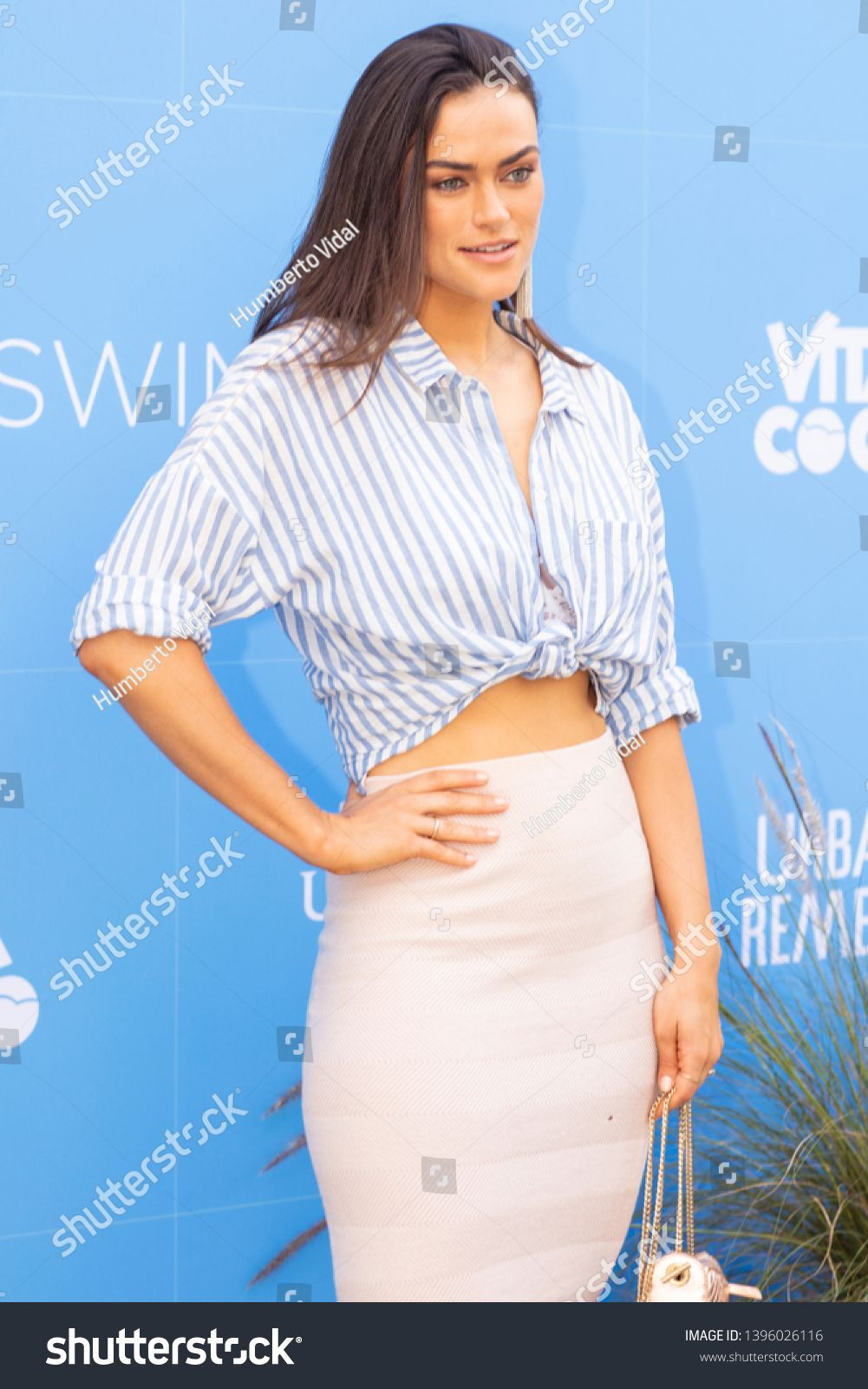Model Myla Dalbesio poses at red carpet during the lauch