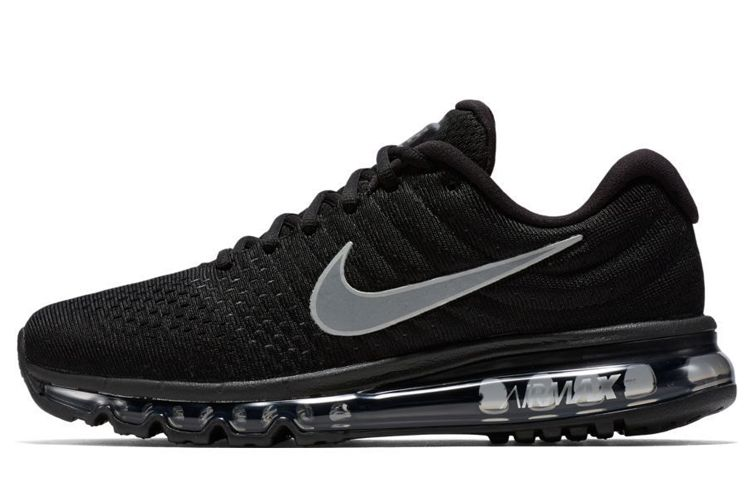 best service baf83 29db2 Men s Woman s Nike Air Max 2017 Running Shoes Black Anthracite White 849559- 001