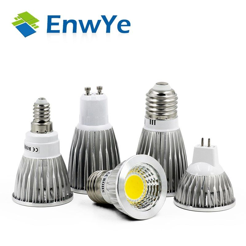 Cob Gu10 Gu5 3 E27 E14 Mr16 12v Lampada Led Lamp 220v 110v 3w 5w