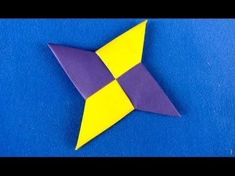 How To Make A Ninja Star With Paper Origami Ninja Star Crafts