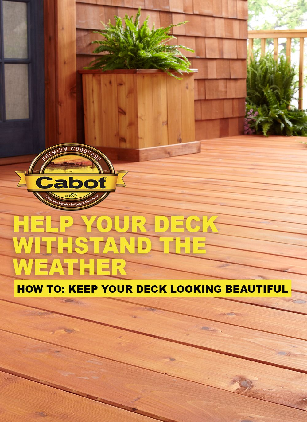 How To Maintain Your Exterior Wood Wood Deck Cabot Exterior Wood Exterior Stain Staining Wood