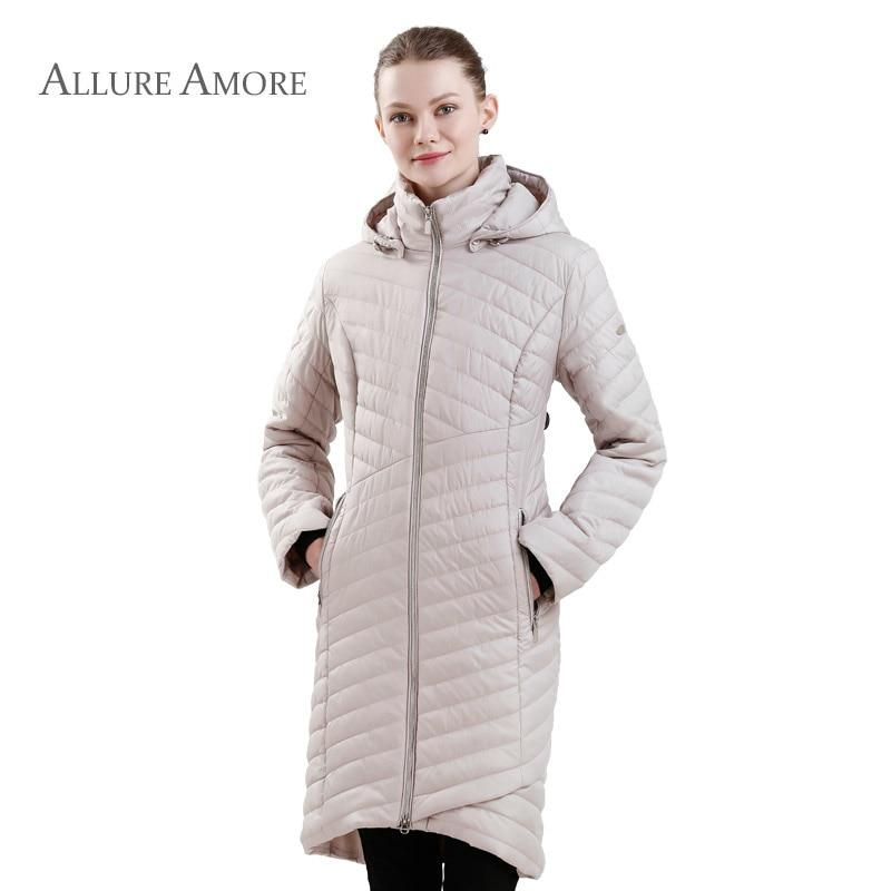 240ed3d43d42d Spring Jacket Women Long Coat Ladies Parka Coats Warm Autumn Thin Quilted  Jacket Big Size Hooded Parka New Collection Designer.