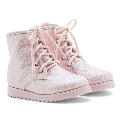 Wiley Pink Glitter Boots