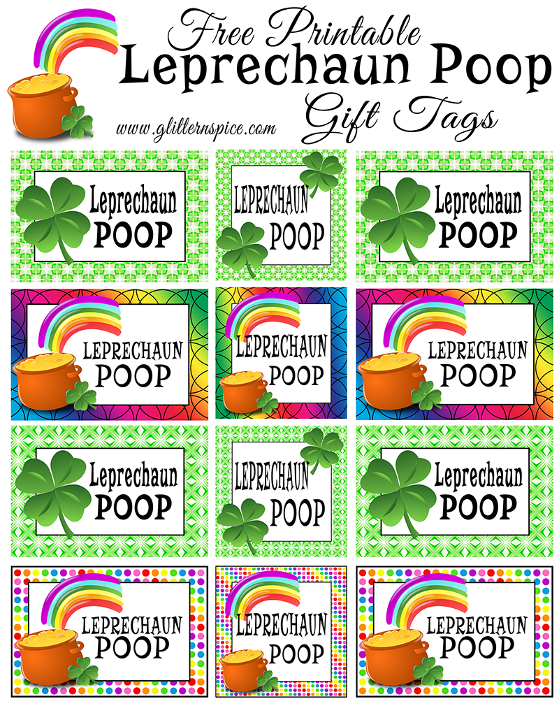 leprechaun treats free printable gift and craft
