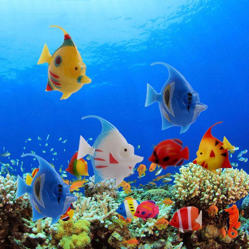 5pcs Plastic Artificial Floating Swimming Vivi Fish Aquarium Fish Tank Ornament Fish Ornaments Aquarium Fish Tank Ornament Decor
